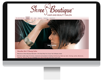 Shree Boutique Hair and Beauty Salon Screenshot