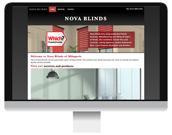 Nova Blinds Web Design