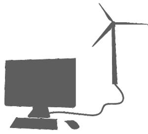 wind turbine powering PC
