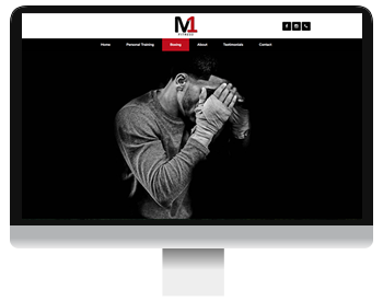 m1 fitness website screenshot