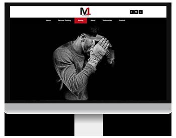 m1 fitness website screenshot