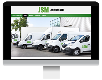 Screenshot of JSM Logistics website