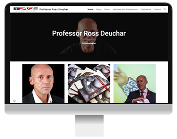 Screenshot of Ross Deuchar new website