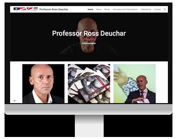Screenshot of Ross Deuchar new website